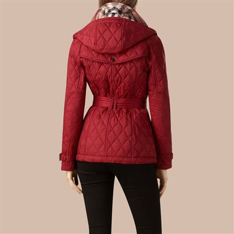 Trench Jacket quilted trench jacket with detachable crimson