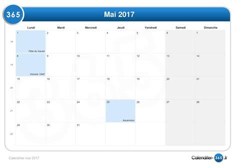 Calendrier 8 Mai Calendrier Mai 2017