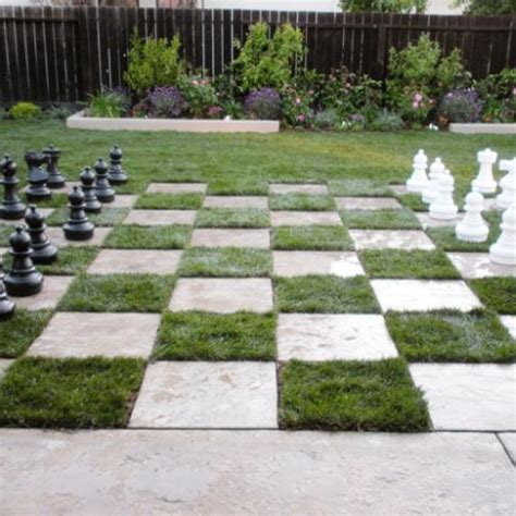 diy home design ideas landscape backyard chess board lawn diy inspiring patio design ideas with