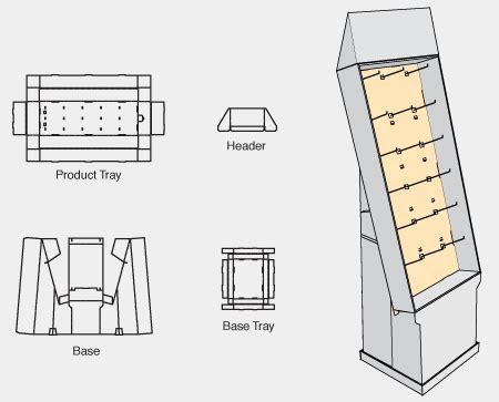 Home Design Floor Plans Free Pegged Hanger Floor Display Boxmaster