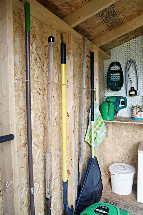 Diy Shed Organization by 56an Organized Garden Shed Organizing