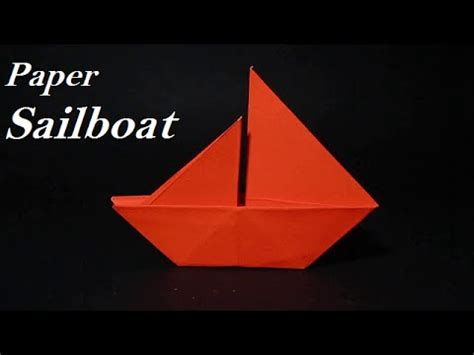 Origami Sailboat That Floats - origami sailboat how to make a simple origami sailboat