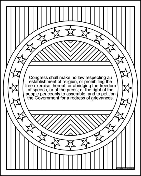 don t eat the paste 1st amendment coloring page bill of