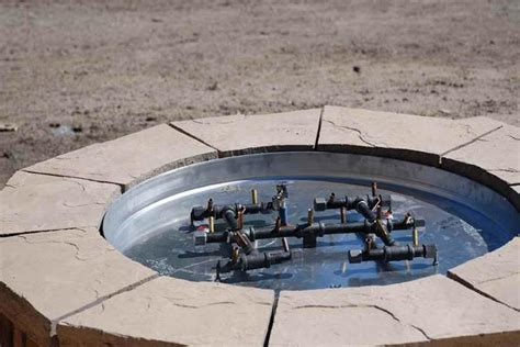 building gas pit gas pit burner pit design ideas