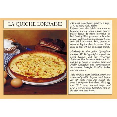 printable quiche recipes postcard alsatian recipe quot la quiche lorraine quot quiche