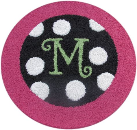 monogram rug border monogram rug with polka dots rosenberryrooms