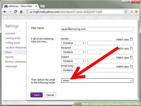 yahoo email directory how to add approved senders to yahoo mail 8 steps