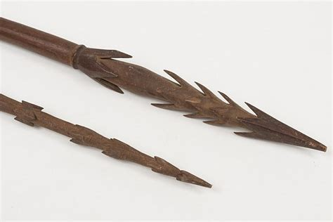 a tribal fishing spear possibly polynesian