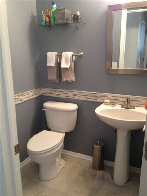 Half Bathroom Tile Ideas Half Bath Remodel Gail