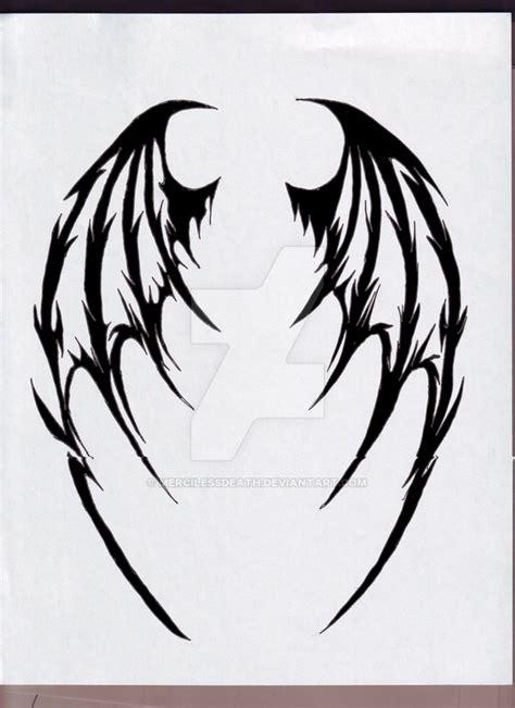 tattoo ali demone demon wings by mercilessdeath on deviantart