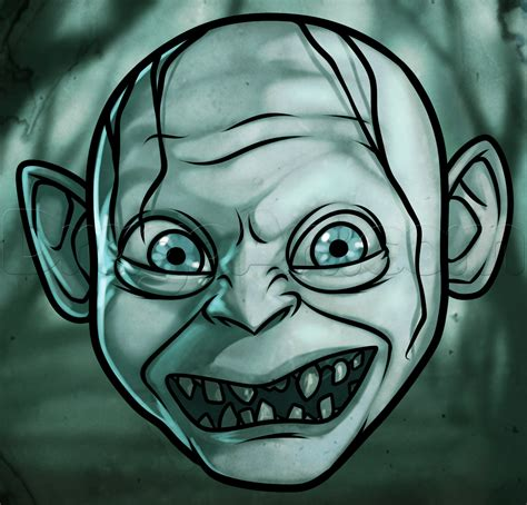 Drawings Easy by How To Draw Gollum Easy Step By Step Characters Pop