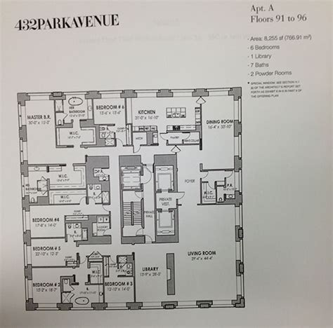 432 park ave floor plans 432 park avenue macklowe properties