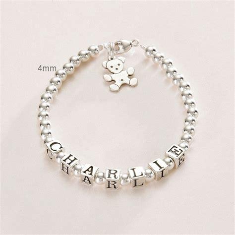 Boys or Girls Name Bracelet Sterling Silver   Jewels 4 Girls