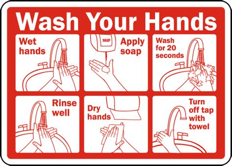 printable washing instructions wash your hands instructions label d5815l