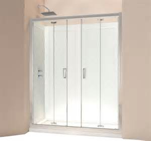 frameless folding shower doors dreamline butterfly frameless bi fold shower door and