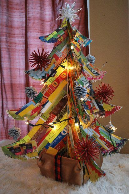 how to make a polar express paper christmas tree junk mail tree 5 steps with pictures