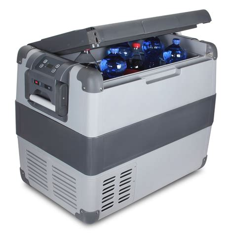 Ac Coller Led 75l portable freezer refrigerator w usb port x large cooler chest w led ac dc ebay