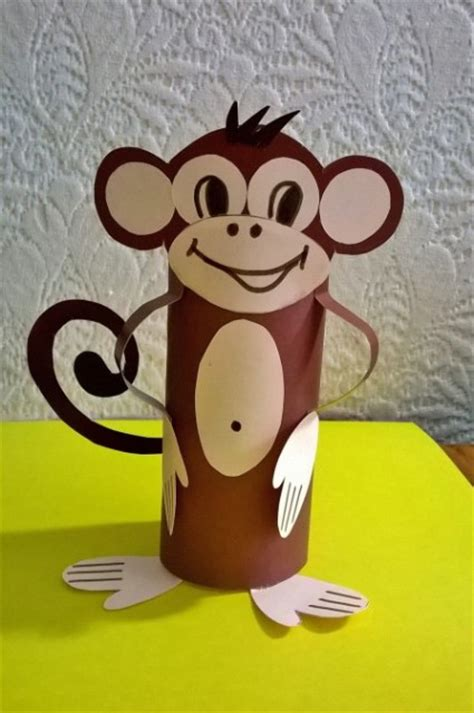 How To Make A Monkey Out Of Paper - tuvalet kagidi rulosu sanat etkinlikleri 10 hobi