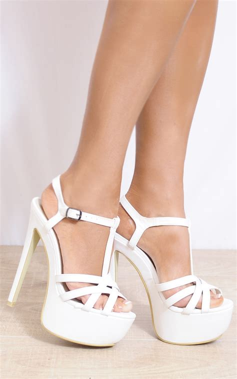 white ankle high heels white ankle straps strappy sandals peep toes high heels