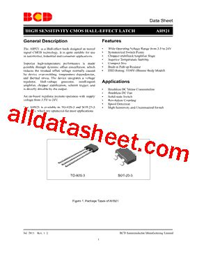 diodes incorporated bcd ah921 datasheet pdf diodes incorporated