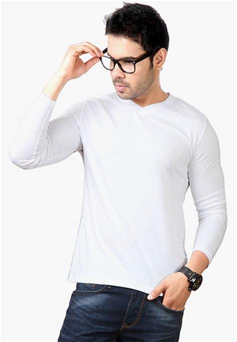 White Sleeved V Neck Shirt 1 buy hanburry white sleeve v neck t shirt for india best prices reviews