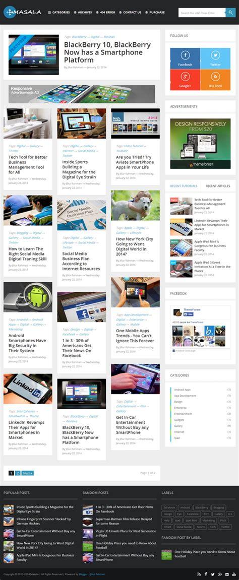 masala blogger template blogger templates 2018