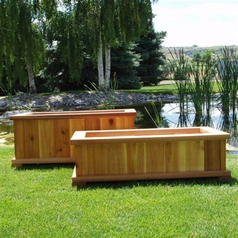 Garden Planter Box Ideas Best 25 Large Wooden Planters Ideas On Wooden Garden Boxes Large Garden Planters