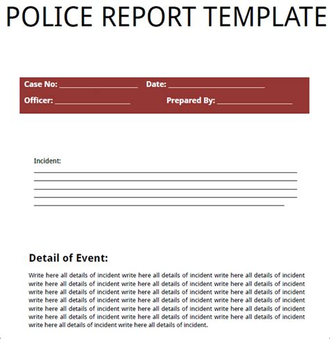 24 printable report templates free pdf formats