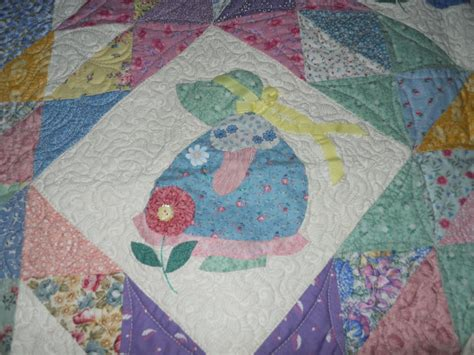 Sue Bonnet Quilt by Quilted This Sunbonnet Sue Quilt