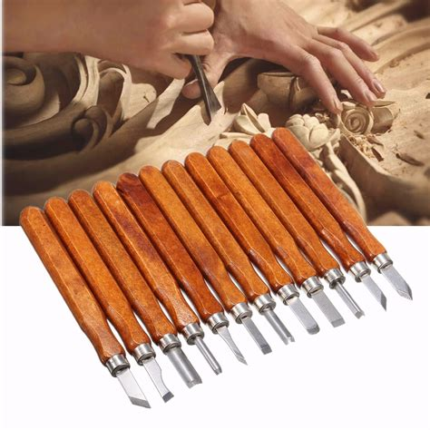 pcs wood carving woodworking hand chisel set