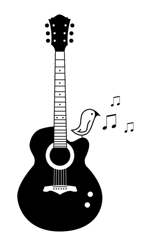 guitar with song bird tattoo by milkmayo on deviantart
