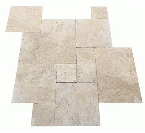 installing french pattern travertine tiles premium select french pattern tumbled ivory travertine pavers