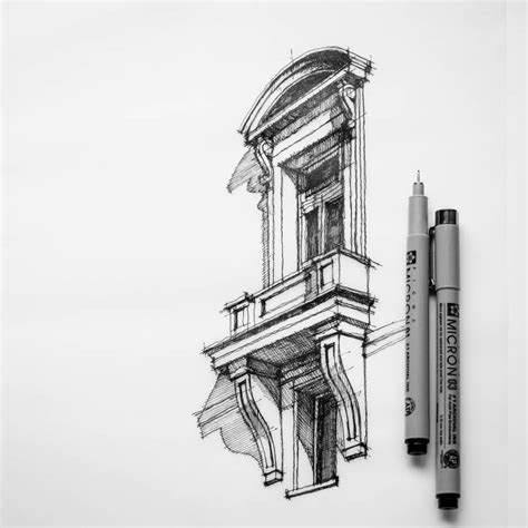 pencil drawings buildings building sketch stock photos for dan hogman blurred lines separate his of