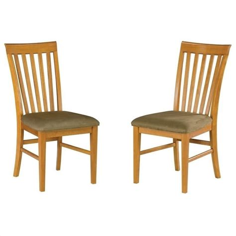 Atlantic Dining Chairs Atlantic Furniture Mission Dining Chair In Caramel Latte Set Of 2 Ad771137