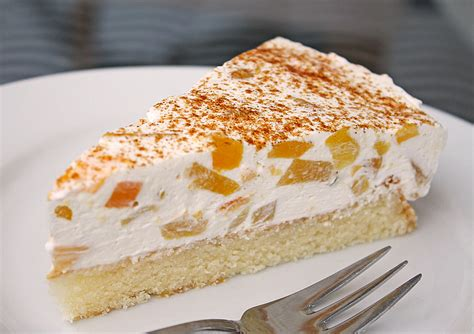 kuchen aus keksen pfirsich schmand kuchen rezept mit bild manugro