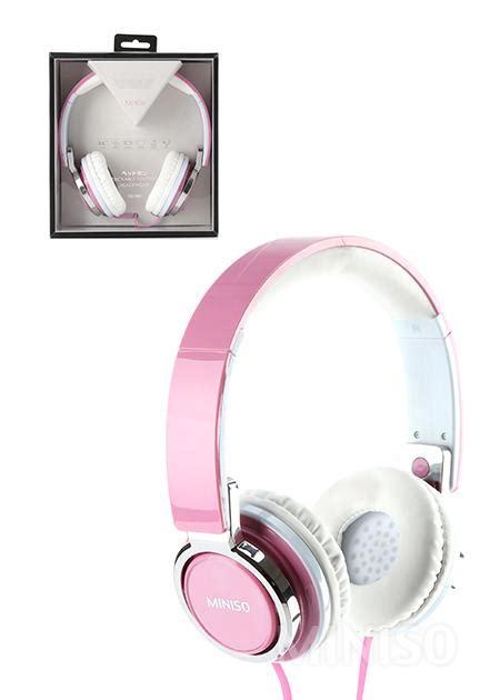 Headset Bluetooth Miniso ultimate headphone pink miniso madagascar