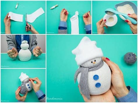 creative ideas diy easy no sew sock snowman sock