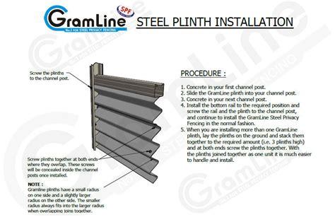 steel plinth plinth  fencing gramline
