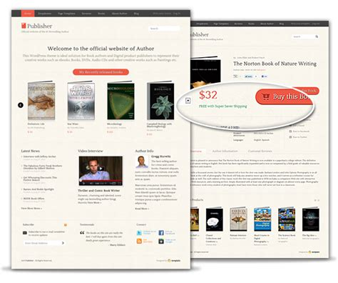 wordpress themes book publishers showcase digital products with our publisher theme templatic