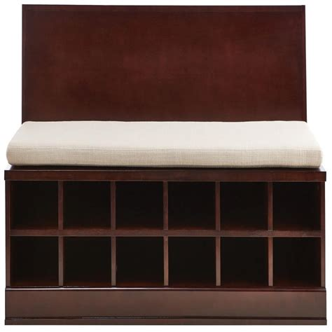 home decorators storage bench bismark smokey brown modular storage bench designd