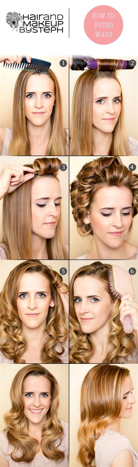 diy vintage big hairstyles 20 stylish retro wavy hairstyle tutorials and hair looks
