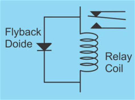 use of freewheeling diode in relay diy do it yourself
