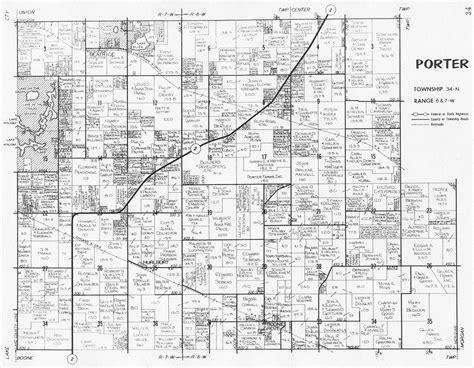porter county indiana genweb porter township maps