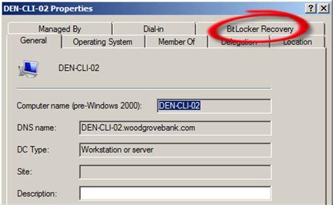 reset windows password bitlocker bitlocker recovery tab missing from the computer