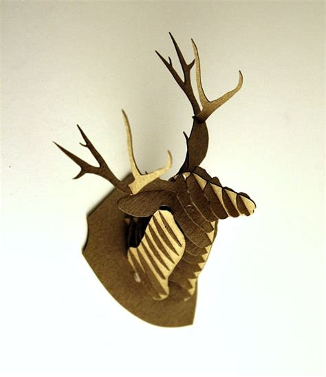 dollhouse miniature cardboard deer head kit giveaway