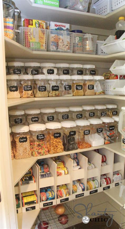 Diy Pantry Organization Ideas by Diy Labels Chalkboard Labels For The Pantry Shanty 2 Chic