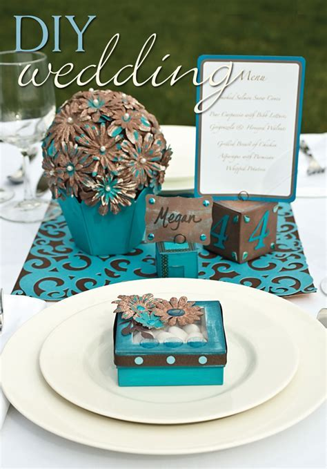 Turquoise and Brown Wedding Decorations   FaveCrafts.com