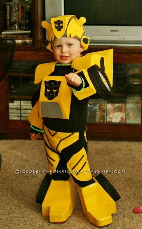 cool bumblebee autobot homemade costume  toddlers