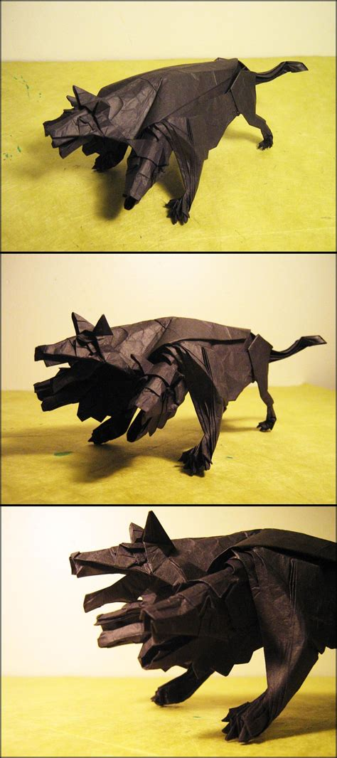 Origami Cerberus - origami cerberus by lexar on deviantart