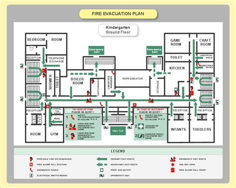 Emergency Plan Sle Fire Emergency Plan Building Evacuation Map Template